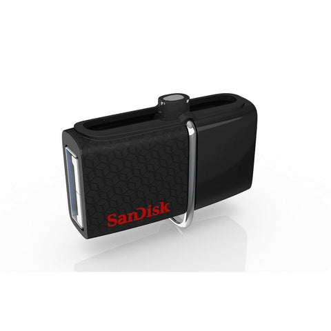 SanDisk Ultra Dual USB Drive 3.0, SDDD2  USB3.0, Black, USB3.0/micro-USB connector, OTG-enabled Android devices, 5Y
