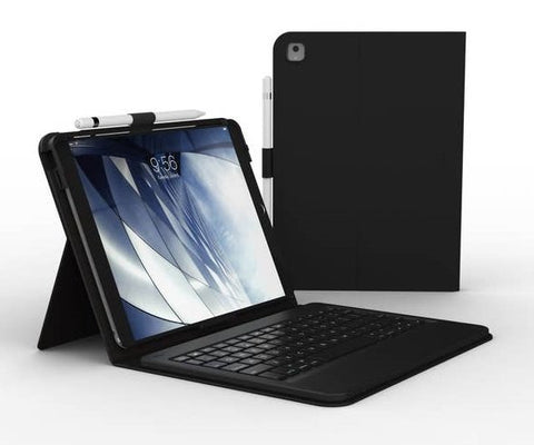 ZAGG-Messenger Folio with Keyboard - Apple-iPad 10.2-KB-Charcoal
