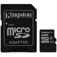 KINGSTON 16GB MICROSDHC (CLASS 10) UHS-I 80R FLASH CARD