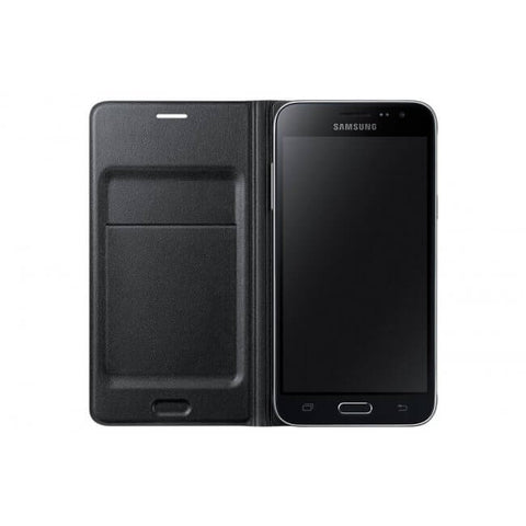 Galaxy J3 Flip Wallet - Black