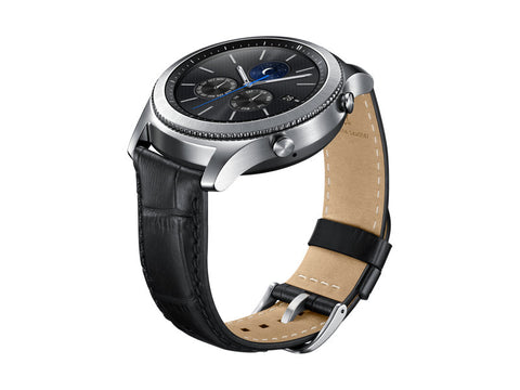 Alligator Grain Leather Band - Gear S3 - Black