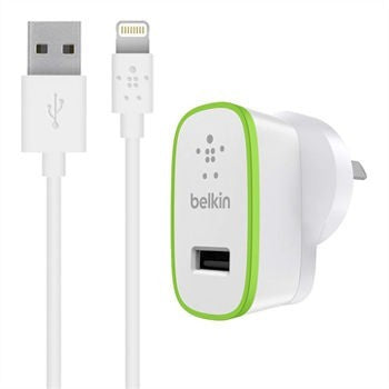 BELKIN BOOST IT UP 2.4A HOME CHARGER, USB(1) WHITE, 2YR WTY