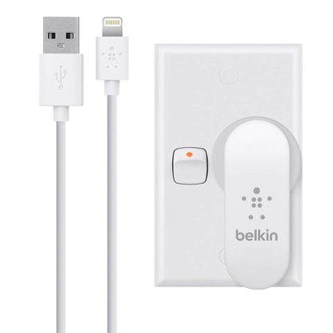 BELKIN 2.1A DUAL WALL CHARGER, USB PORT (2) WITH 1.2M LIGHTING CABLE, WHITE, 1YR WTY