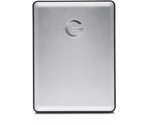 G-DRIVE mobile 2TB USB C, Portable, USB powered, Stylish aluminum finish, Silver