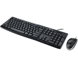 LOGITECH MK200 WIRED MEDIA KEYBOARD AND MOUSE COMBO