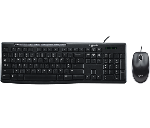 LOGITECH MK200 WIRED MEDIA KEYBOARD AND MOUSE COMBO - 3YR WTY