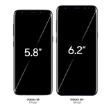 Galaxy S8 and Galaxy S8+ standing side by side