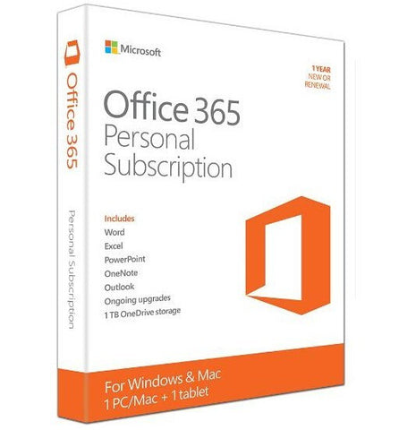 Microsoft OFFICE 365 PERSONAL MAC/WIN, NO DVD RETAIL BOX, 1YR SUB P2 (REPLACES QQ2-00035)
