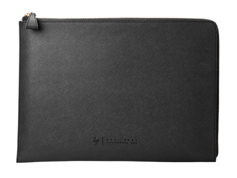 "HP 13.3"" PREMIUM BLACK LEATHER ZIP SLEEVE"
