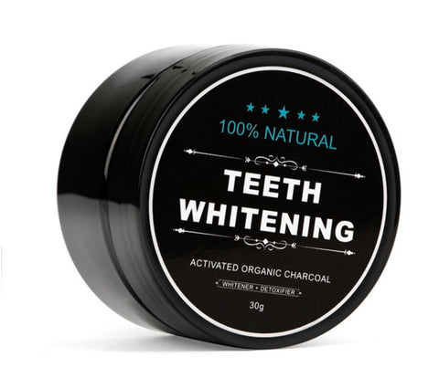 Teeth Whitening Natural Organic Charcoal Powder / Bamboo Toothbrush