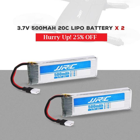 2pcs Original 3.7V 500mAh Battery for Pocket Selfie Drone