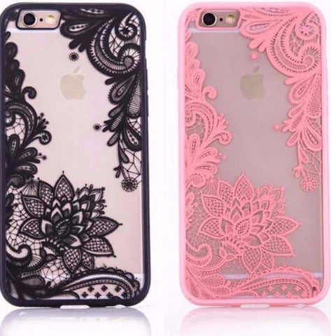 Lace Design iPhone Case For iPhone 7 6 6S 5 5S SE Plus