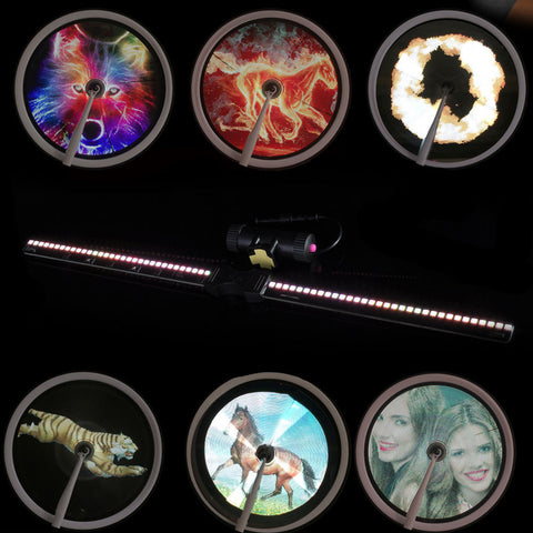 Smart Bicycle LED Graphic and Motion Graphic Lights