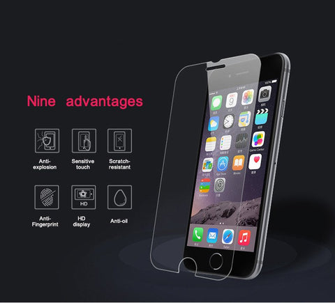 Tempered Glass for iPhone* 7 7 plus 6 6s 6 Plus 5 5S 4S Screen Protector