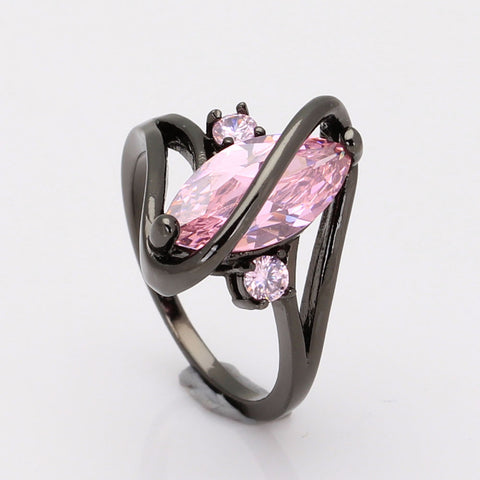 Black Pink Cubic Zircon Ring* For Her