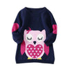 Owl/Cat Shirt Knitted Kid Sweater