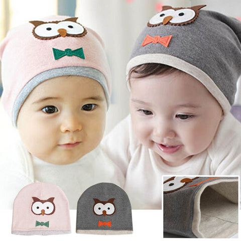 Infant Unisex Baby Cotton Owl Beanie Hat FREE