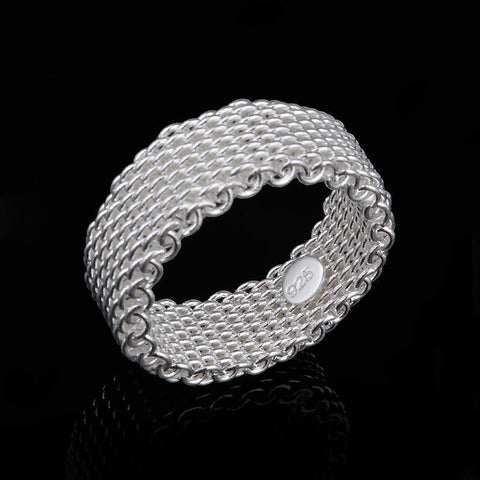 Layer Chain Silver Plated Ring*