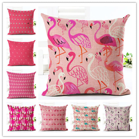 Flamingo 10 Designs Cushion Case