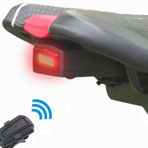 Anti-Theft Remote Control Alarm Taillight LED For Bike