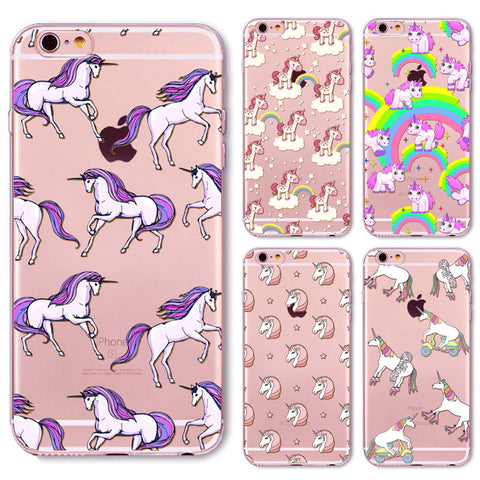 Unicorn Phone Case For iphone 4 4s 5 5S 5C SE 6 6s SE 6Plus 6S Plus