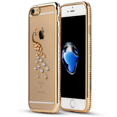 Transparent Rhinestone Case For iPhone 7 / 7 Plus