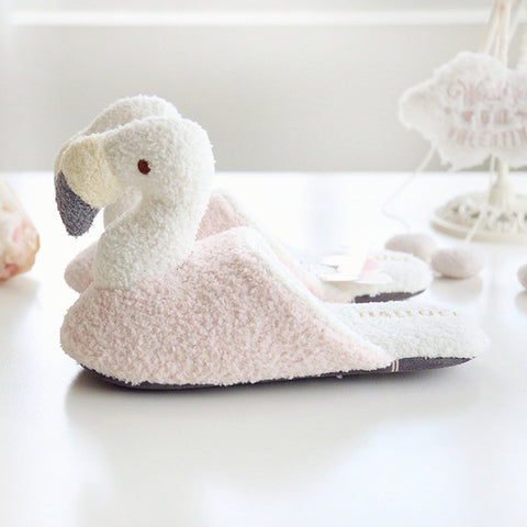 Flamingo Plush Indoor Slippers