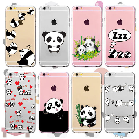 Lovely Panda Cellphone Case For All iPhone Models