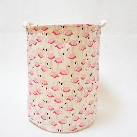 Flamingo / Geometry Fold-able Storage Basket