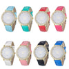 Casual Lady Watch Synthetic Leather With Rhinestones 8 Colors