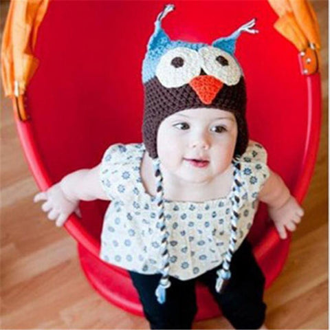Owl Design Baby Hat 6-18 mths