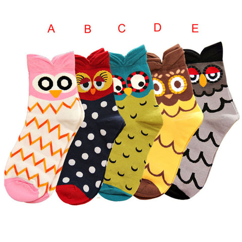 Durable Cute Owl Socks FREE