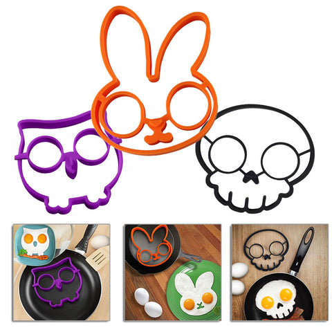 Bunny Owl Skull Fried Egg Mold