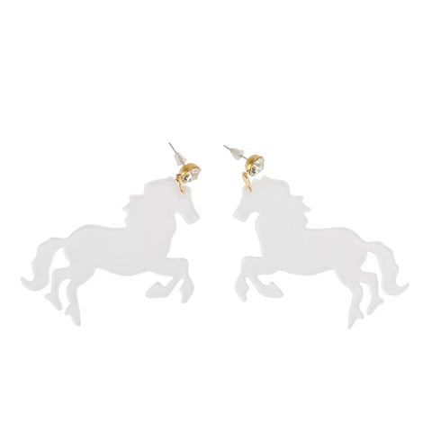 Unicorn Transparent Earring