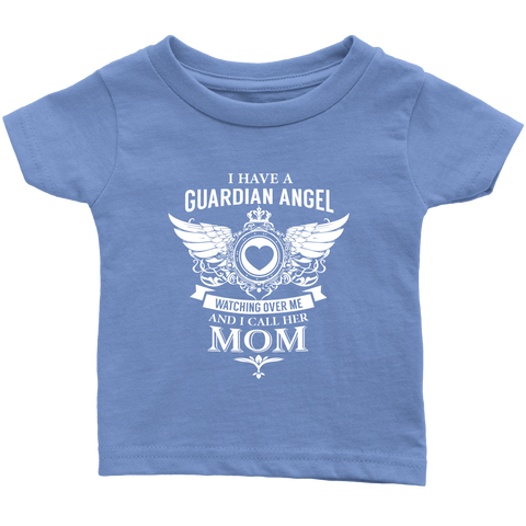 Infant T-Shirt Mom The Guardian Angel 6m-24m Blue/Pink