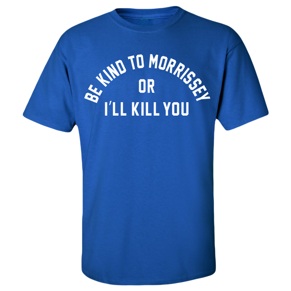 Be Kind To Morrissey Blue Tee