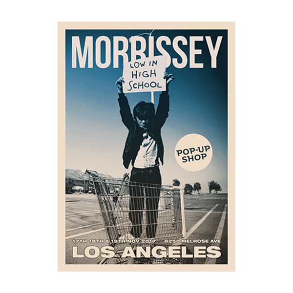 Los Angeles Pop Up Poster Blue