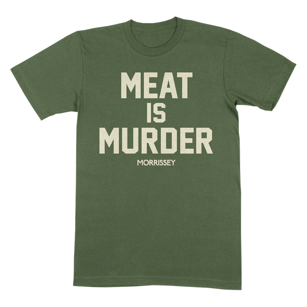 Meat is Murder Military Green Tee