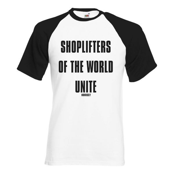 Shoplifters Black and White Baseball Tee