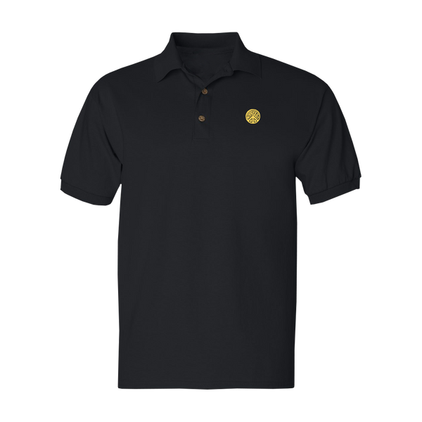 Black Peace Sign Polo Shirt