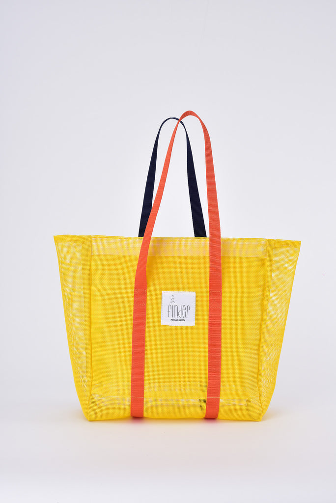 Finder Mesh Tote Bag Small Size Yellow