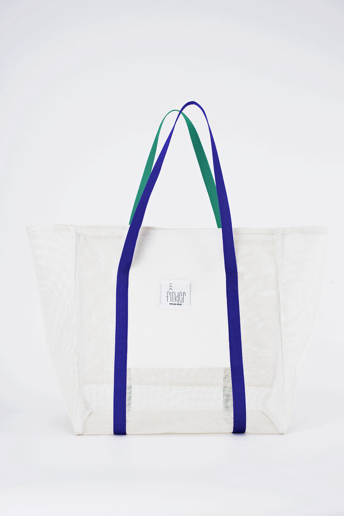 Finder Mesh Tote Bag Large Size White