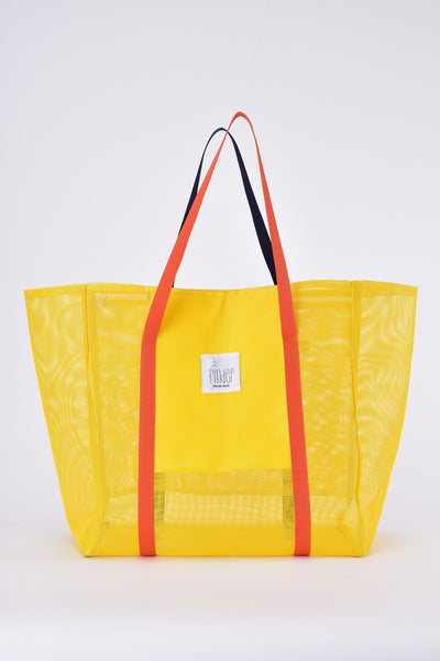 Finder Mesh Tote Large Small Size Yellow