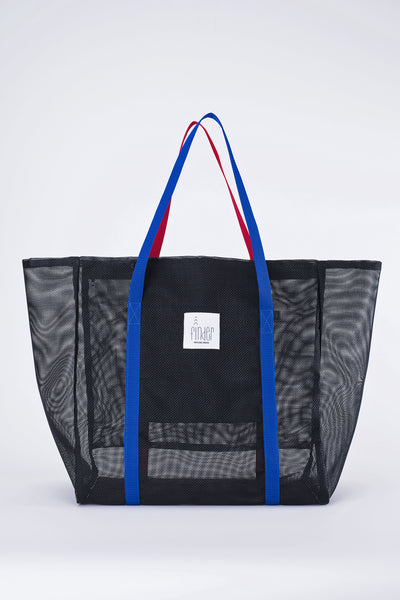 Finder Mesh Tote Bag Large Size Black