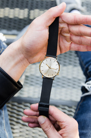 Minimalistic Gold men's watch