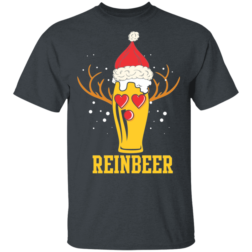 Reinbeer T-Shirt Funny Christmas Gift For Beer Lovers - FrankyTee