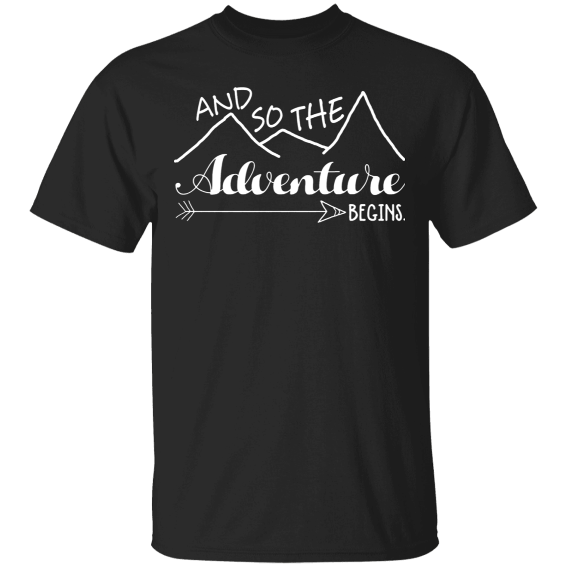 Camper Love Camping Gift, And So The Adventure Begin T-Shirt