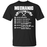 Mechanic Hourly Rate T shirt - FrankyTee