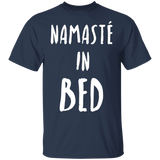 Funny Yoga T-Shirt Namaste In Bed - FrankyTee