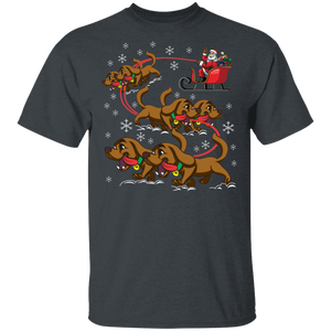 Reindeer Dachshund Dog Shirt For Women Men Christmas Gift - FrankyTee